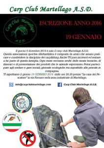 locandina iscrizione club 2016